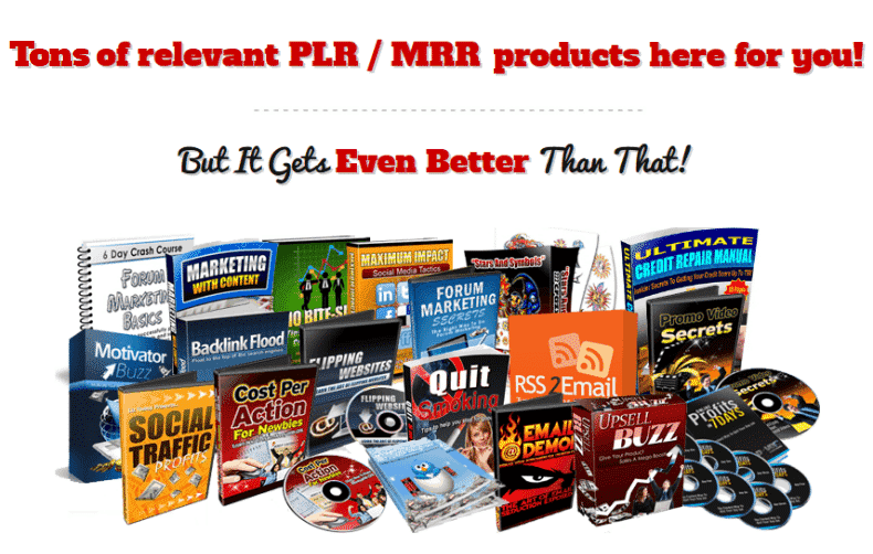 Tons of relevant PLR/MRR Products; Free Digital Content